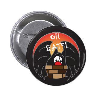 Oh Bats Mr. Batty | Halloween Pinback Button