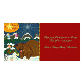 Oh Beary Night a beary meary christmas photo card