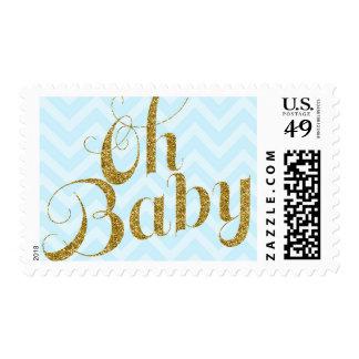 Oh bebé - brillo del oro y sello de Chevron