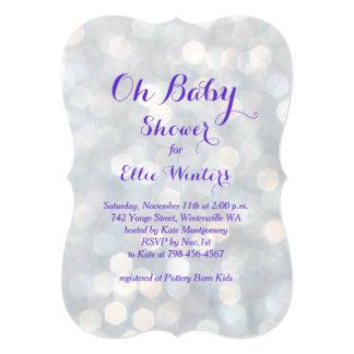 ¡Oh bebé! Invitación púrpura de la ducha de las Invitación 12,7 X 17,8 Cm