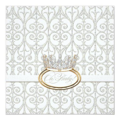 Oh bebé, princesa Crown Girl Shower Invitation Invitación 13,3 Cm X 13,3cm