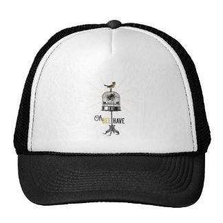 Oh Bee Have Vintage Bee Bird Cage & Crown Trucker Hat