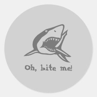 Oh, bite me! classic round sticker
