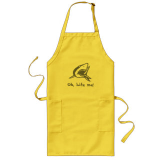 Oh, bite me! long apron