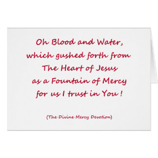 Oh Blood and Water ... Card