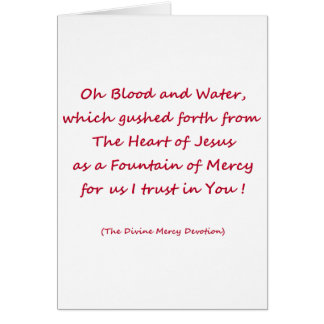 Oh Blood and Water ... Greeting Card