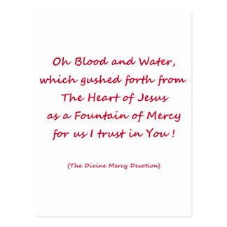 Oh Blood and Water ... Postcard