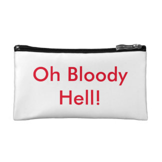 Oh Bloody Hell tampon bag. Cosmetic Bag