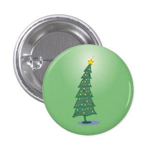 oh botón verde del árbol de navidad pins