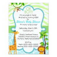 Oh boy baby shower invitations announcements zazzle oh boy animal print baby shower invitation filmwisefo Choice Image