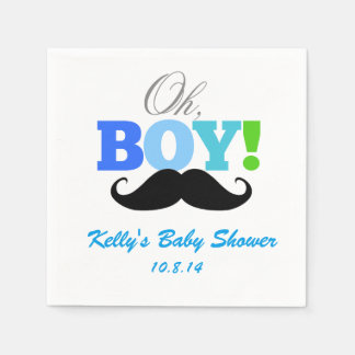 Oh Boy Baby Shower Disposable Napkin