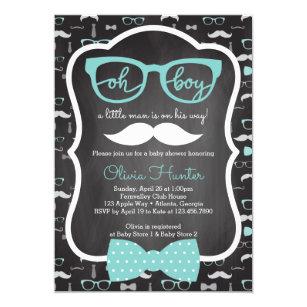 Oh boy invitations announcements zazzle oh boy baby shower invitation blue gray invitation filmwisefo