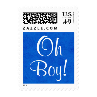 Oh Boy!!  Blue Baby Shower or Announcement V5 Postage