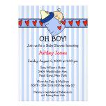 Oh Boy Bottle Boy Baby Shower Invitations