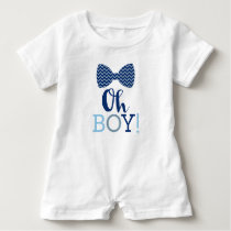 Oh Boy Bow Tie Baby Romper