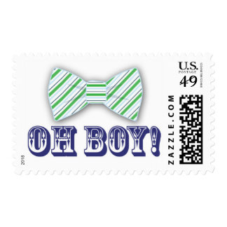 OH BOY! Bow tie Baby Shower Postage Stamp