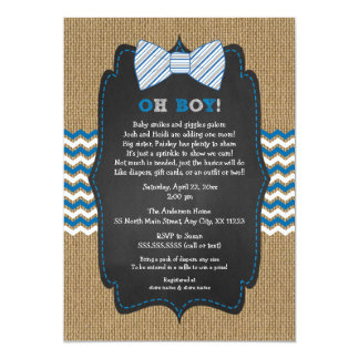 OH BOY Bow Tie Baby Sprinkle / boy baby shower Card