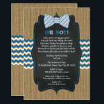"OH BOY Bow Tie Baby Sprinkle / boy baby shower Invitation<br><div class=""desc"">This rustic bow tie baby sprinkle invitation has the perfect mix of rustic and fun.  Matching items available.  Just ask designer if you cannot find what you need.</div>"