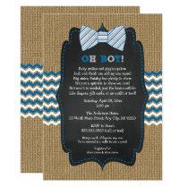 OH BOY Bow Tie Baby Sprinkle / boy baby shower Invitation