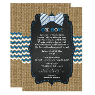 Bow tie baby shower invitations zazzle oh boy bow tie baby sprinkle boy baby shower invitation filmwisefo