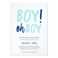 Oh boy invitations announcements zazzle oh boy couples co ed baby shower invitation filmwisefo