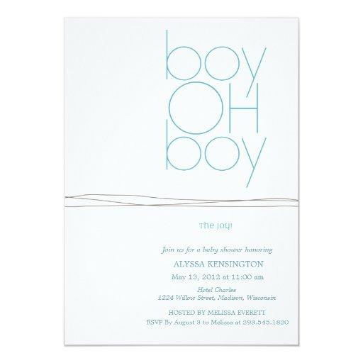 Oh Boy Custom Baby Shower Invitation