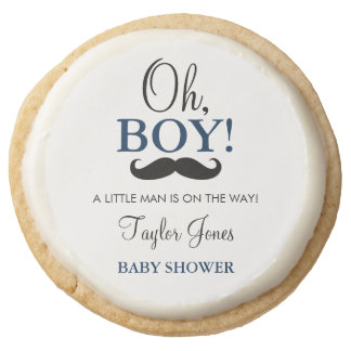 Oh Boy Mustache Baby Shower Cookies