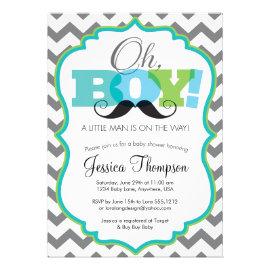 Cute baby shower invitations pretty pattern gifts oh boy mustache baby shower invitation filmwisefo Gallery