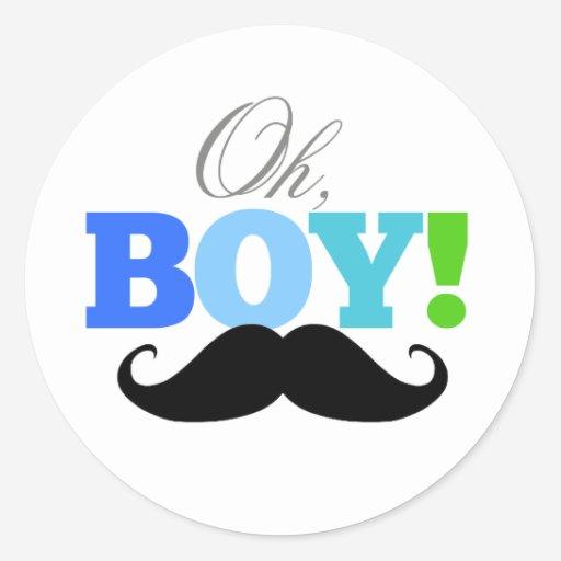 Custom oh boy baby shower sticker templates babyfavors4u oh boy mustache baby shower invitations sticker filmwisefo Choice Image