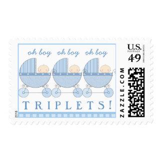 Oh boy times three - it's Triplets! Stamp