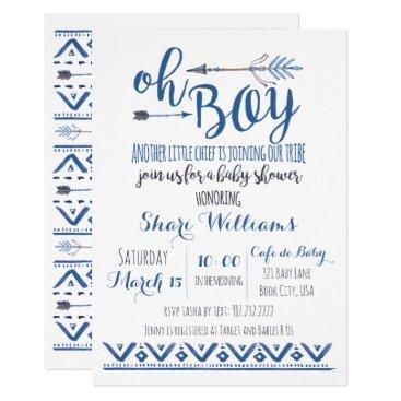 Charmworthy Oh Boy Tribal Baby Shower Invitation
