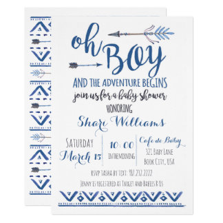 Oh Boy Tribal Baby Shower Invitation -CUSTOM
