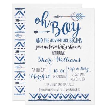 Charmworthy Oh Boy Tribal Baby Shower Invitation -CUSTOM