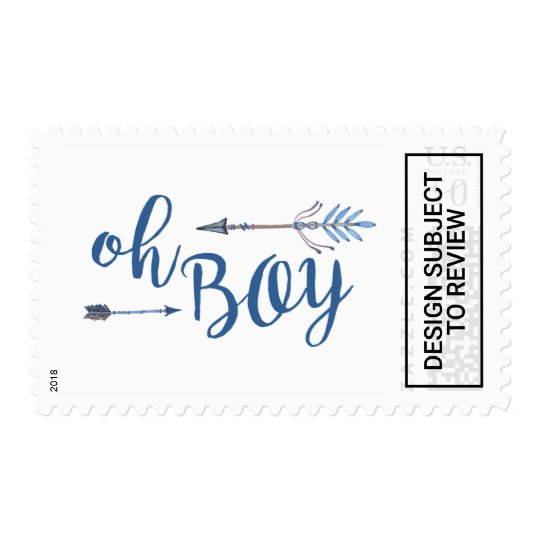 Oh Boy Tribal Baby Shower Stamp Zazzle