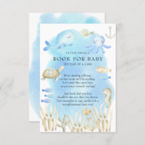 Oh Boy Under the Sea Baby Shower Book for Baby Enclosure Card