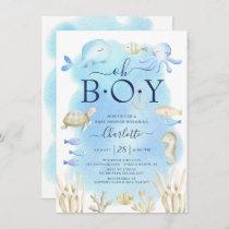 Oh Boy Under The Sea Baby Shower  Invitation