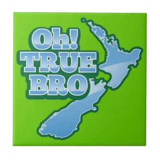 ¡Oh BRo VERDADERO! mapa del kiwi Azulejo Cuadrado Pequeño