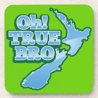 ¡Oh BRo VERDADERO mapa del kiwi Posavasos De Bebida