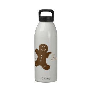 Oh broche botella de agua reutilizable