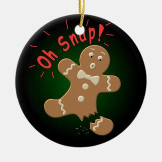 Oh broche ornamento para arbol de navidad