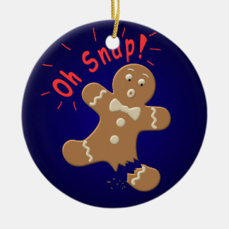 Oh broche ornamentos de navidad