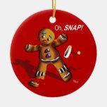 ¡Oh broche! El navidad adorna (el rojo) Adornos