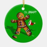 ¡Oh broche! El navidad adorna (el verde) Adorno Navideño Redondo De Cerámica