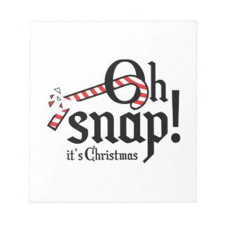 ¡Oh broche! Es la Navidad Blocs De Notas