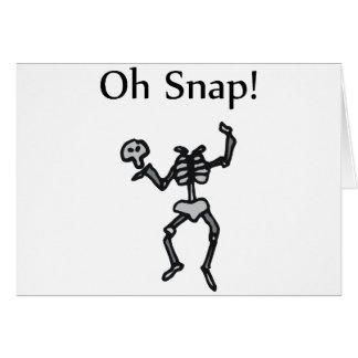 ¡Oh broche Esqueleto Felicitación