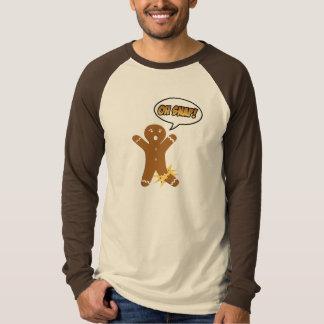 ¡Oh broche! Hombre de pan de jengibre divertido Camisas