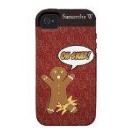¡Oh broche! Hombre de pan de jengibre divertido iPhone 4/4S Carcasas