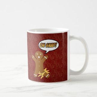 ¡Oh broche! Hombre de pan de jengibre divertido Taza De Café