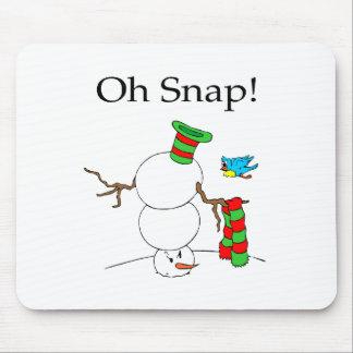 ¡Oh broche! (Muñeco de nieve de UD) Tapetes De Raton