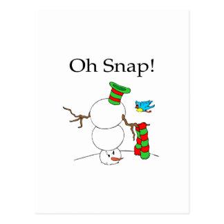 ¡Oh broche Muñeco de nieve de UD Tarjetas Postales